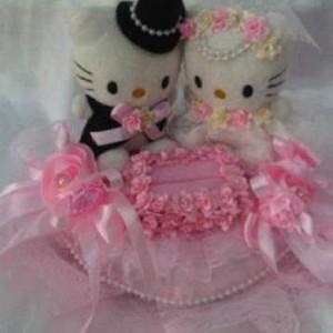 Bantal cincin wedding ring pillow boneka bantalan kotak cincin 3901