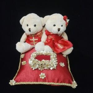 Bantal cincin wedding ring pillow boneka bantalan kotak cincin 4504