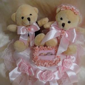 Bantal cincin wedding ring pillow boneka bantalan kotak cincin 4006
