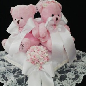 Bantal cincin wedding ring pillow boneka bantalan kotak cincin 4205