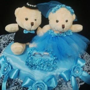 Bantal cincin wedding ring pillow boneka bantalan kotak cincin 4402
