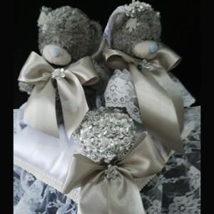 Bantal cincin wedding ring pillow boneka bantalan kotak cincin 4204