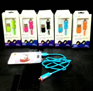 KABEL DATA MICRO USB SAMSUNG LED WARNA