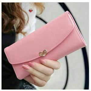 Dompet korea love pink