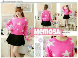 Blouse Star Pink