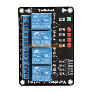 4 CHANNEL RELAY MODULE SUPPORT AVR/51/PIC