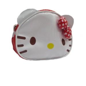 Pouch kosmetik Hello Kitty Merah