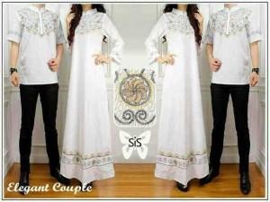 Couple Dress Elegant White / Baju Couple
