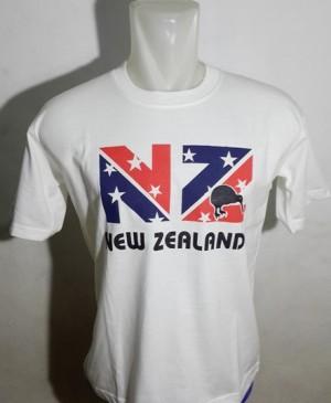 SOUVENIR MANCANEGARA KAOS NEWZEALAND