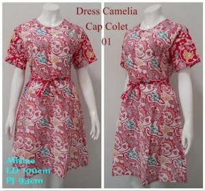 Dress batik Camelia Cap colet.