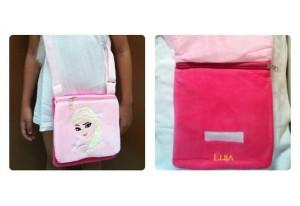 Tas selempang Bludru Elsa Pink