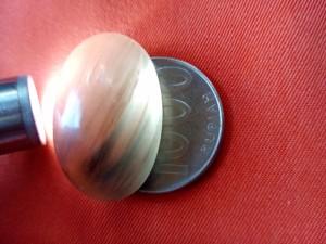 Mata cincin batu SOLAR SOLOK SELATAN Smoky Quart Ukuran Jumbo 12