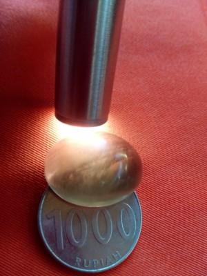Mata cincin batu SOLAR SOLOK SELATAN Smoky Quart Ukuran Jumbo 25