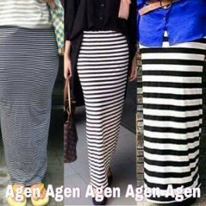 stripe skirt / skinny skirt / rok pencil murah