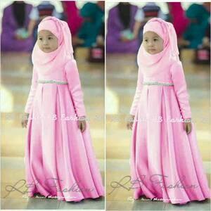 Adeline Syar'i Kids Pink