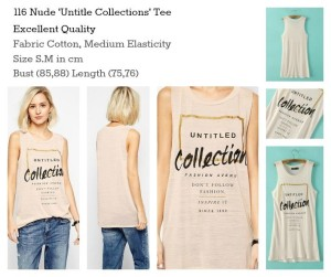 ID-116 Nude 'Untitle Collections' Tee