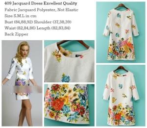 ID-409 Jacquard Flower Dress