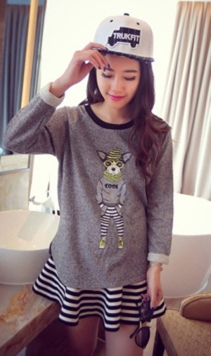 ID-838 Light Sweater (DARK GREY-DOG)