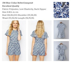 ID-158 Blue Collar Belted Jumpsuit