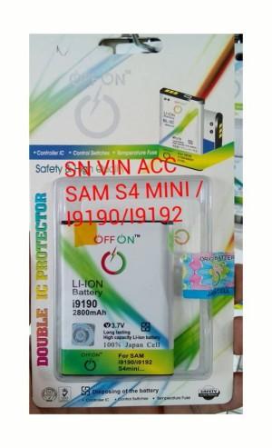 BATERAI SAMSUNG S4 MINI/I9190/I9192 (2800MAH) DOUBLE POWER/ DOUBLE IC