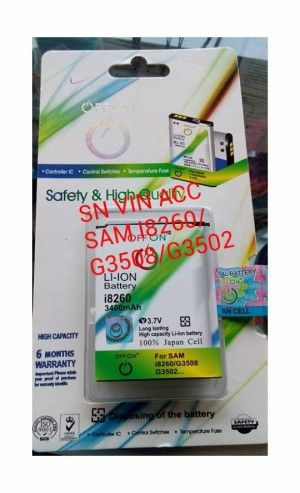 BATERAI SAMSUNG CORE/I8260/G5308/G3502 (3400MAH)DOUBLE POWER/IC