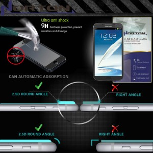 Anti Gores Kaca Norton Pro Tempered Glass Samsung Galaxy Note 2 N7100