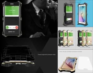 Love Mei MK2 Powerfull Bumper Armor Cover Case Samsung Galaxy S6 G920