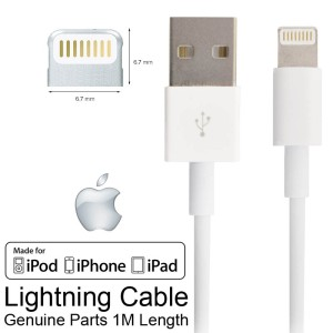 Kabel Data Ipad Air Iphone 5 5s 6 8-Pin USB Lightning Cable - Genuine