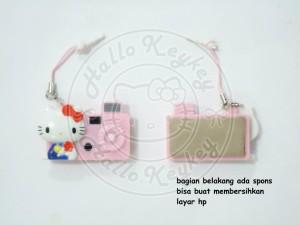 gantungan hp/plugy dan screen cleaner hello kitty