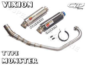 Knalpot CLD Racing Vixion/New Vixion type Monster Silencer Stainless