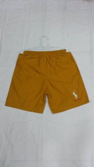 celana pendek polo coklat kuning bahan halus dan lembut