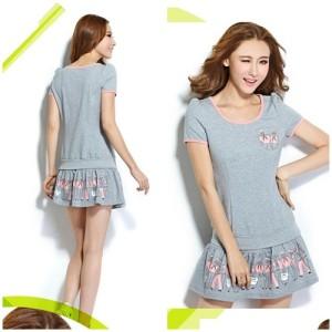 Baju Cantik WANITA korea impor color GRAY LS35665