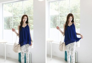 Baju WANITA FASHION Color DARKBLUE T4769