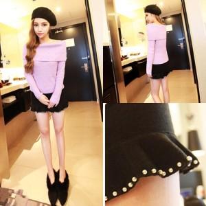 Celana/SweaterKorea Wanita Fashion Color Black S6866