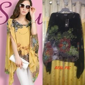 Baju Fashion Wanita Korea Impor Color BLACK T23771