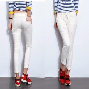 Celana Wanita Fashion Cantik Color WHITE P34907