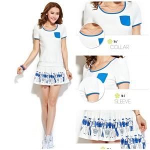 Baju WANITA FASHION color WHITE LS35665