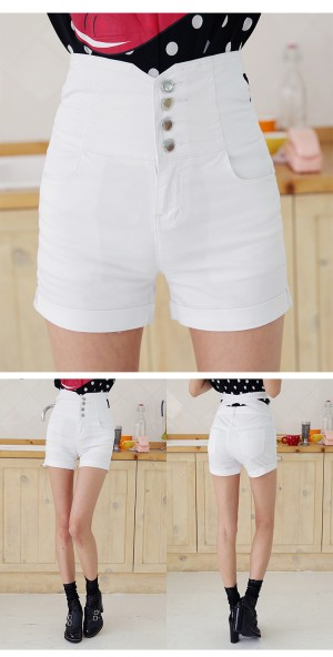 Celana Wanita Fashion Cantik Color WHITE P33137