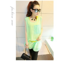 Baju WANITA FASHION Color GREEN (WITH BELT) (2PCS Korea Impor T3842