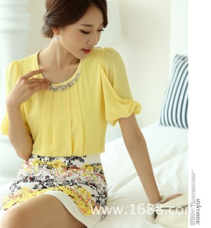 Baju Fashion Wanita Korea Impor Color YELLOW T8048