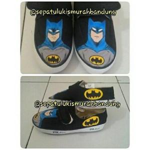 sepatu lukis spiderman batman