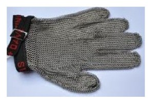 Stainless Steel Mesh Cut Resistant Glove-Sarung tangan metal baja besi