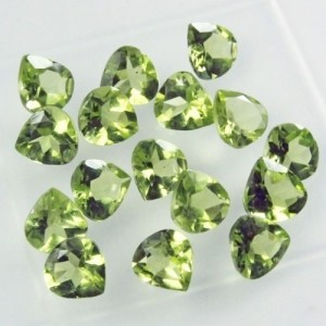 WHOLESALE LOT OF 5x5mm PEAR FACET NATURAL EARTH MINED PERIDOT GEMSTONE