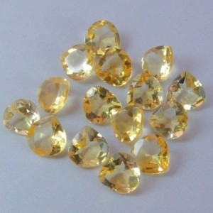 WHOLESALE LOT OF 6x6mm PEAR FACET NATURAL EARTH MINED CITRINE GEMSTONE