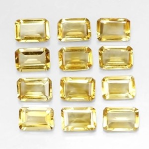WHOLESALE LOT OF 7x5mm OCTAGON CUT NATURAL EARTH MINED CITRINE GEMSTON