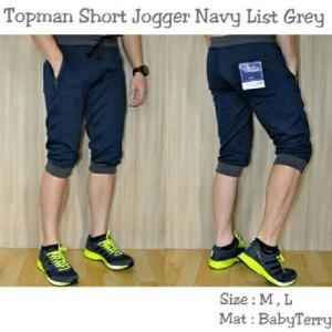 Topman Short Jogger Navy List Grey !