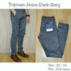Celana Panjang Pria Topman Jeans Dark Grey !