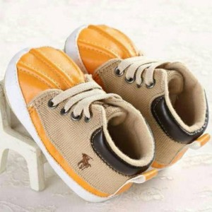 Sepatu Prewalker Bayi Laki-Laki merk POLO warna kuning - NEW