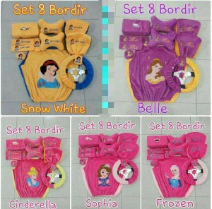 Bantal Mobil 8 in 1 Bordir PRINCESS SERIES Yelfo