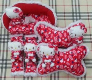 Bantal Mobil 3 in 1 Boneka HELLO KITTY Merah